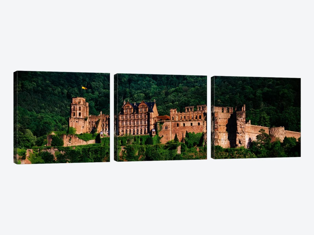 Heidelberg Castle, Heidelberg, Baden-Wurttemberg, Germany by Panoramic Images 3-piece Canvas Print