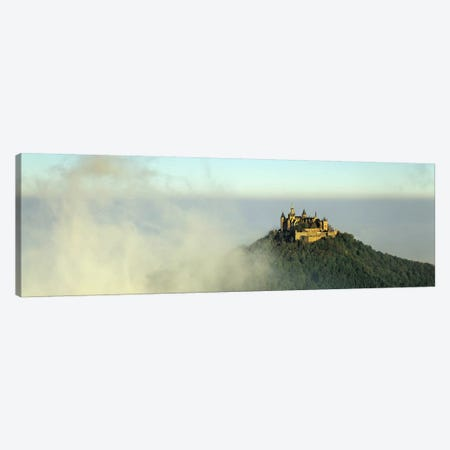Castle on a hill, Burg Hohenzollern, Swabian Alb, Baden-Wurttemberg, Germany Canvas Print #PIM10441} by Panoramic Images Canvas Art