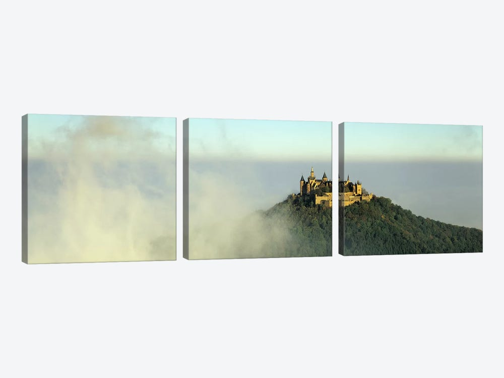 Castle on a hill, Burg Hohenzollern, Swabian Alb, Baden-Wurttemberg, Germany 3-piece Canvas Artwork