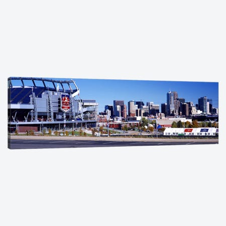 Stadium in a city, Sports Authority Field at Mile High, Denver, Denver County, Colorado, USA Canvas Print #PIM10443} by Panoramic Images Canvas Artwork