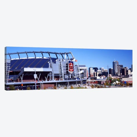 Stadium in a city, Sports Authority Field at Mile High, Denver, Denver County, Colorado, USA #2 Canvas Print #PIM10444} by Panoramic Images Art Print