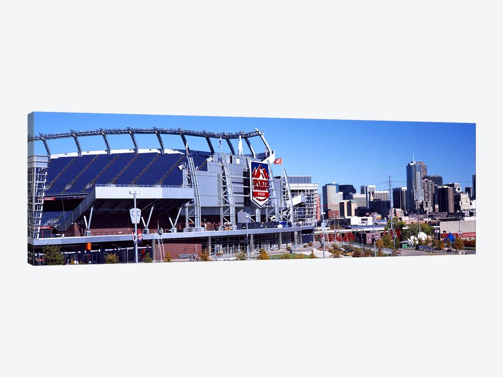 Stadium in a city, Sports Authority Field at Mile High, Denver, Denver County, Colorado, USA #2 by Panoramic Images 1-piece Art Print