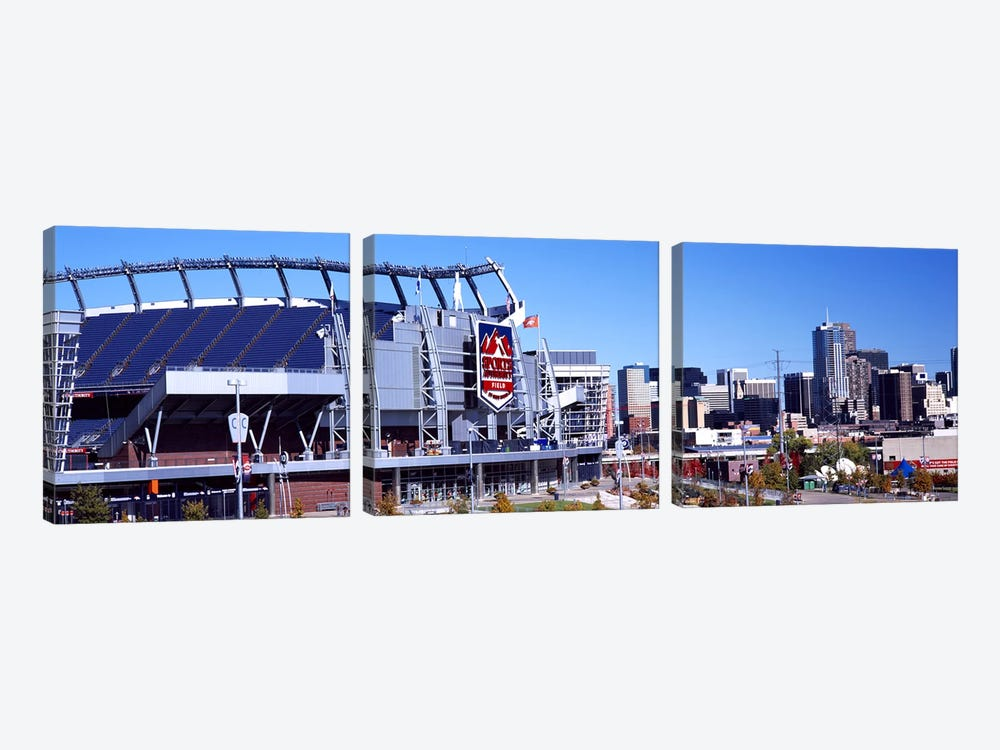 Stadium in a city, Sports Authority Field at Mile High, Denver, Denver County, Colorado, USA #2 by Panoramic Images 3-piece Art Print