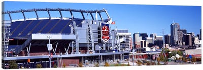 Stadium in a city, Sports Authority Field at Mile High, Denver, Denver County, Colorado, USA #2 Canvas Art Print