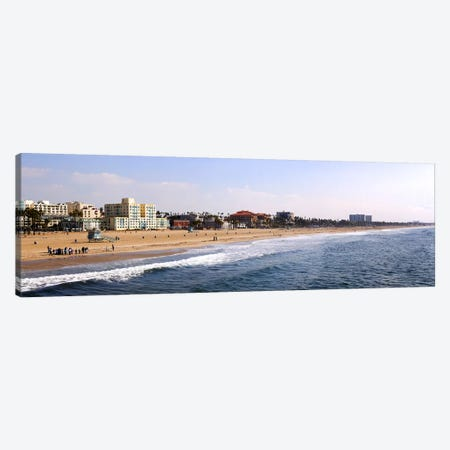 Surf on the beach, Santa Monica Beach, Santa Monica, Los Angeles County, California, USA Canvas Print #PIM10446} by Panoramic Images Art Print