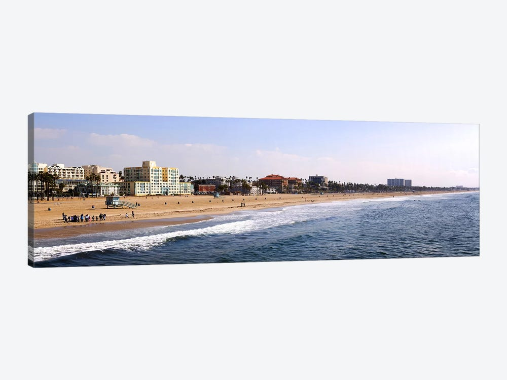 Surf on the beach, Santa Monica Beach, Santa Monica, Los Angeles County, California, USA by Panoramic Images 1-piece Canvas Art Print