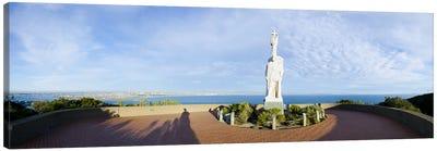 Monument on the coast, Cabrillo National Monument, Point Loma, San Diego, San Diego Bay, San Diego County, California, USA Canvas Print #PIM10451