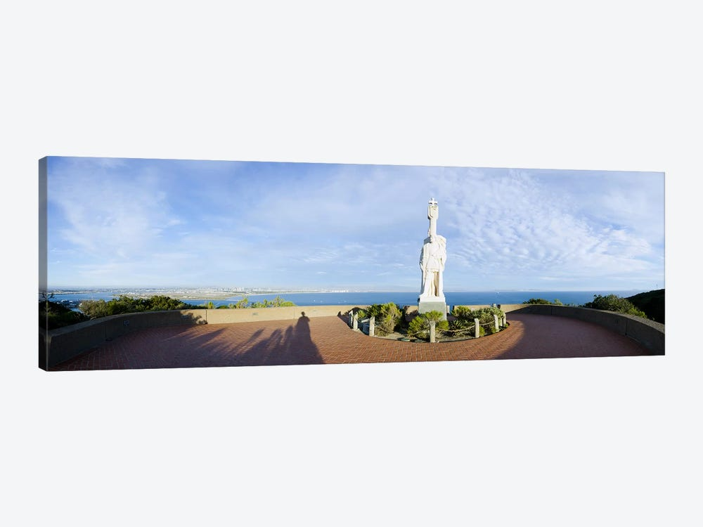 Monument on the coast, Cabrillo National Monument, Point Loma, San Diego, San Diego Bay, San Diego County, California, USA 1-piece Art Print