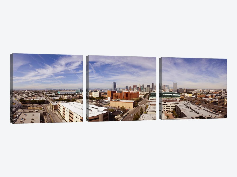 Buildings in Downtown Los Angeles, Los Angeles County, California, USA 2011 by Panoramic Images 3-piece Canvas Artwork