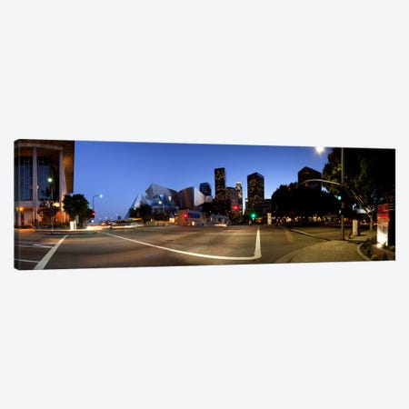 Concert hall lit up at night, Walt Disney Concert Hall, City Of Los Angeles, Los Angeles County, California, USA 2011 Canvas Print #PIM10453} by Panoramic Images Canvas Art Print