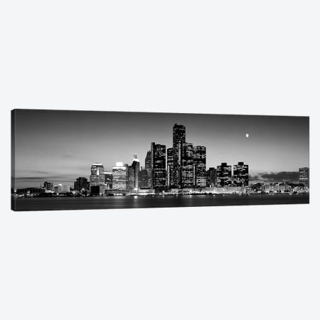 Buildings at the waterfront, River Detroit, Detroit, Michigan, USA Canvas Print #PIM10454} by Panoramic Images Canvas Art