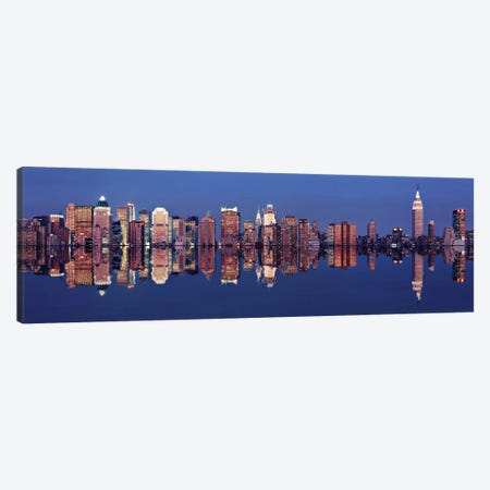 Skyscrapers at the waterfront, New York City, New York State, USA Canvas Print #PIM10456} by Panoramic Images Canvas Wall Art