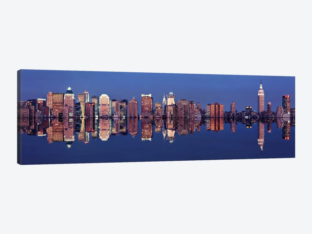 Skyscrapers at the waterfront, New York City, New York State, USA by Panoramic Images 1-piece Canvas Art