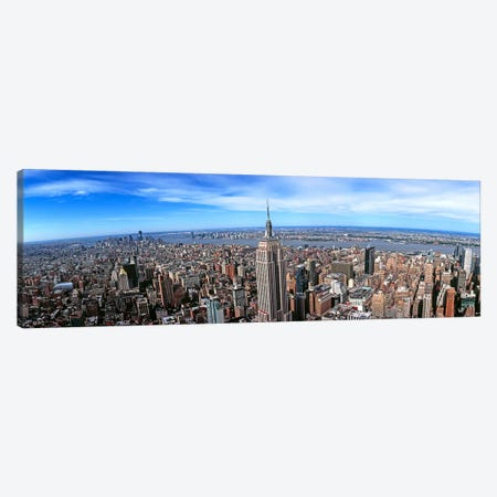 Aerial view of New York CityNew York State, USA Canvas Print #PIM10466} by Panoramic Images Art Print