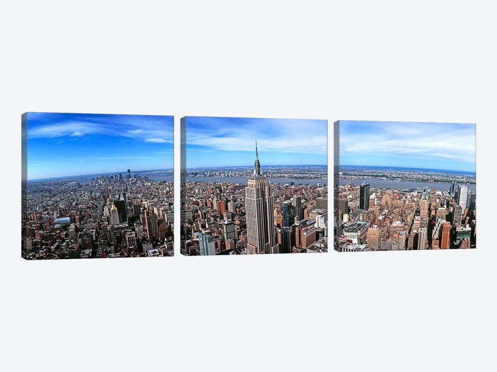 Aerial view of New York CityNew York State, USA by Panoramic Images 3-piece Art Print