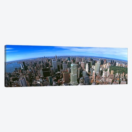 Aerial view of New York CityNew York State, USA Canvas Print #PIM10467} by Panoramic Images Canvas Art Print