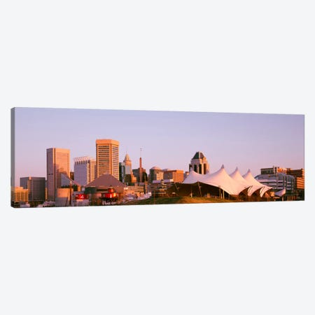 Morning skyline & Pier 6 concert pavilion Baltimore MD USA Canvas Print #PIM1046} by Panoramic Images Canvas Art