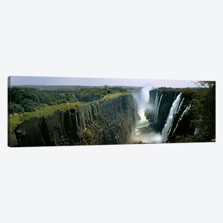 First Gorge, Victoria Falls (Mosi-oa-Tunya), Linvingstone, Zambia Canvas Print #PIM10471} by Panoramic Images Canvas Art Print