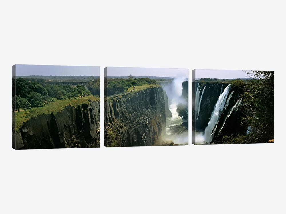 First Gorge, Victoria Falls (Mosi-oa-Tunya), Linvingstone, Zambia by Panoramic Images 3-piece Art Print