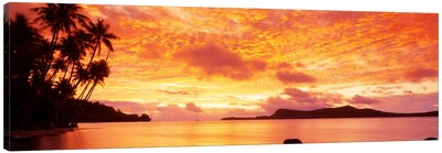 Sunset, Huahine Island, Tahiti Canvas Print #PIM104