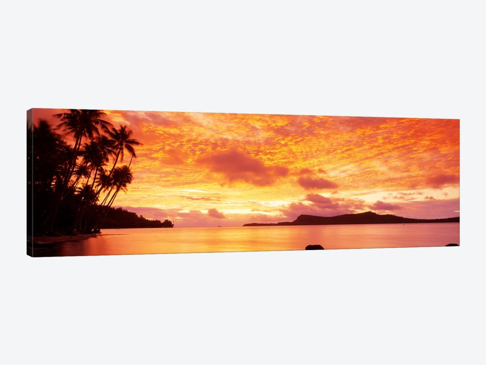 Sunset, Huahine Island, Tahiti by Panoramic Images 1-piece Canvas Print