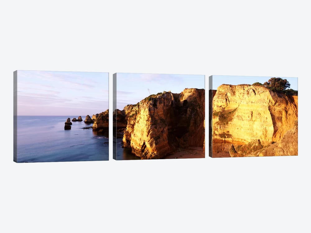 Portugal, Algarve Region, coastline by Panoramic Images 3-piece Canvas Wall Art