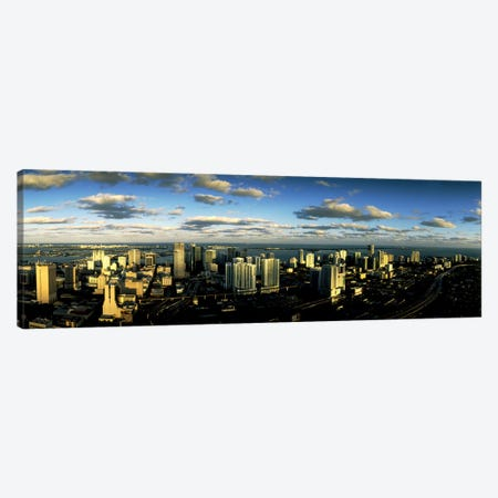 Clouds over the city skyline, Miami, Florida, USA Canvas Print #PIM10568} by Panoramic Images Canvas Art Print