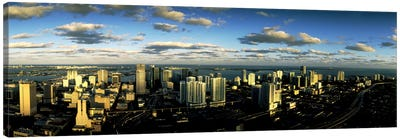 Clouds over the city skyline, Miami, Florida, USA Canvas Art Print
