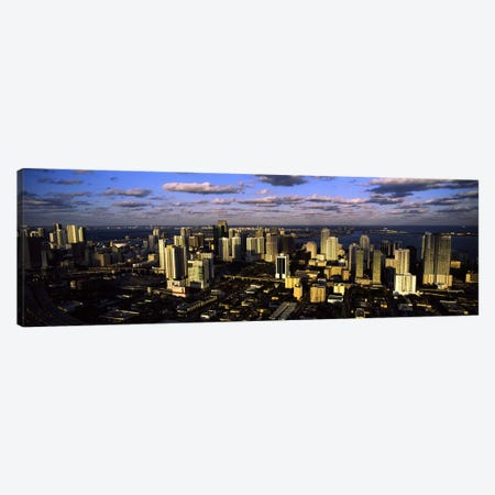 Clouds over the city skyline, Miami, Florida, USA #2 Canvas Print #PIM10569} by Panoramic Images Canvas Art Print