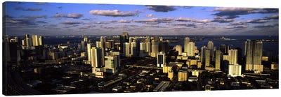 Clouds over the city skyline, Miami, Florida, USA #2 Canvas Print #PIM10569