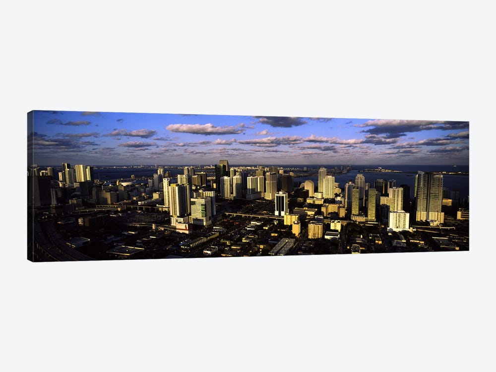 Clouds over the city skyline, Miami, Florida, USA #2 by Panoramic Images 1-piece Art Print