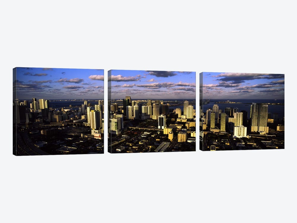 Clouds over the city skyline, Miami, Florida, USA #2 by Panoramic Images 3-piece Canvas Art Print