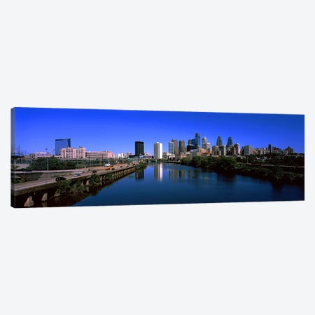 Buildings at the waterfront, Philadelphia, Schuylkill River, Pennsylvania, USA Canvas Print #PIM10570} by Panoramic Images Canvas Art