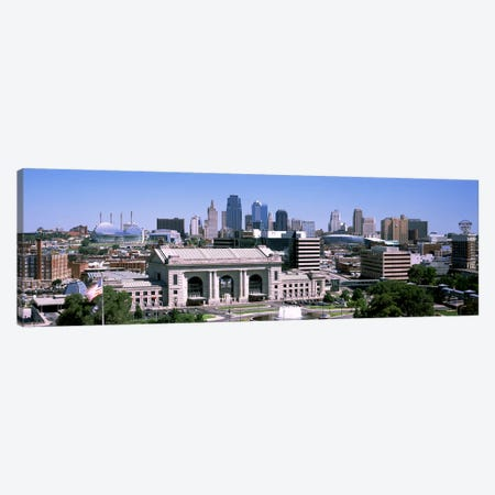 Union Station with city skyline in backgroundKansas City, Missouri, USA Canvas Print #PIM10576} by Panoramic Images Canvas Print