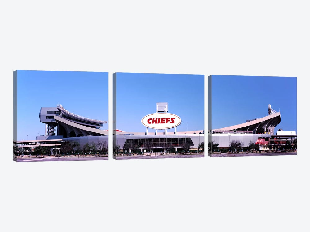 Football stadium, Arrowhead Stadium, Kansas City, Missouri, USA by Panoramic Images 3-piece Canvas Art