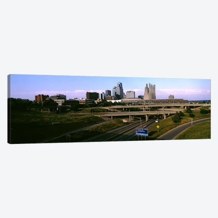 Highway interchange, Kansas City, Missouri, USA Canvas Print #PIM10582} by Panoramic Images Art Print