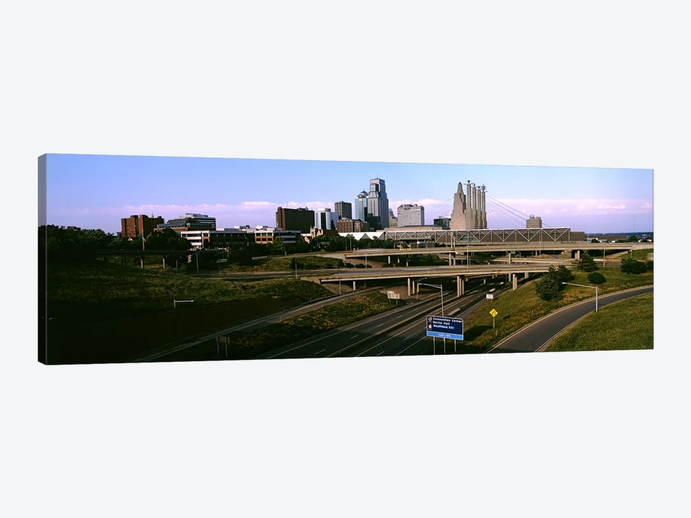Highway interchange, Kansas City, Missouri, USA by Panoramic Images 1-piece Canvas Art