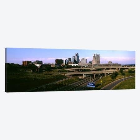 Highway interchange, Kansas City, Missouri, USA Canvas Print #PIM10582} by Panoramic Images Art Print