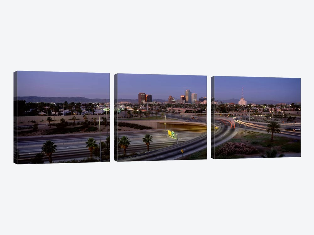 Skyline Phoenix AZ USA by Panoramic Images 3-piece Art Print