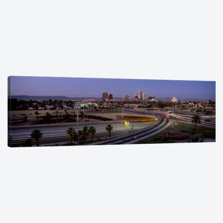 Skyline Phoenix AZ USA 3-Piece Canvas #PIM1058} by Panoramic Images Canvas Artwork
