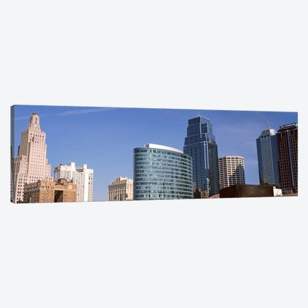 Low angle view of downtown skyline, Kansas City, Missouri, USA #2 Canvas Print #PIM10590} by Panoramic Images Canvas Wall Art