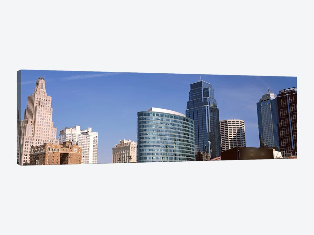Low angle view of downtown skyline, Kansas City, Missouri, USA #2 by Panoramic Images 1-piece Art Print