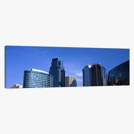 Low angle view of downtown skyline, Kansas City, Missouri, USA #3 Canvas Print #PIM10591} by Panoramic Images Canvas Art