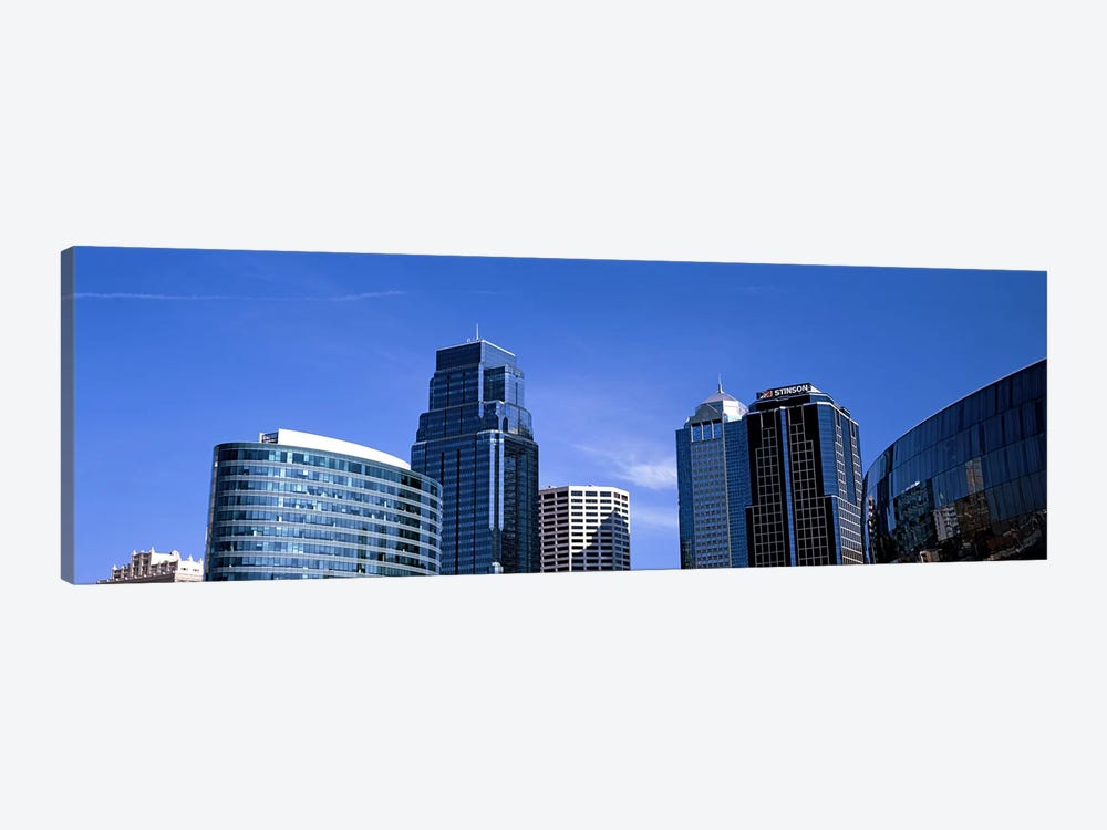 Low angle view of downtown skyline, Kansas City, Missouri, USA #3 1-piece Canvas Art