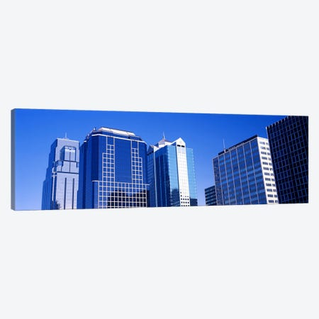 Low angle view of downtown skyline, Kansas City, Missouri, USA #4 Canvas Print #PIM10593} by Panoramic Images Canvas Art