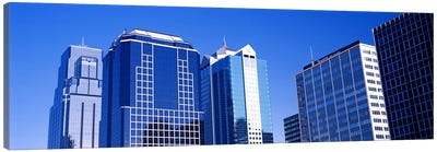 Low angle view of downtown skyline, Kansas City, Missouri, USA #4 Canvas Print #PIM10593