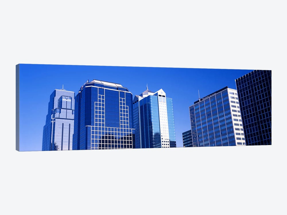 Low angle view of downtown skyline, Kansas City, Missouri, USA #4 by Panoramic Images 1-piece Canvas Artwork