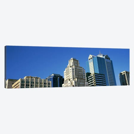 Low angle view of downtown skyline, Town Pavilion, Kansas City, Missouri, USA Canvas Print #PIM10594} by Panoramic Images Canvas Art Print