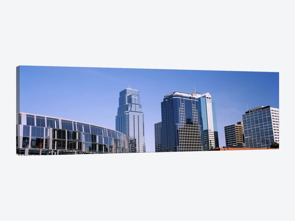 Low angle view of downtown skyline, Town Pavilion, Kansas City, Missouri, USA #2 by Panoramic Images 1-piece Canvas Wall Art