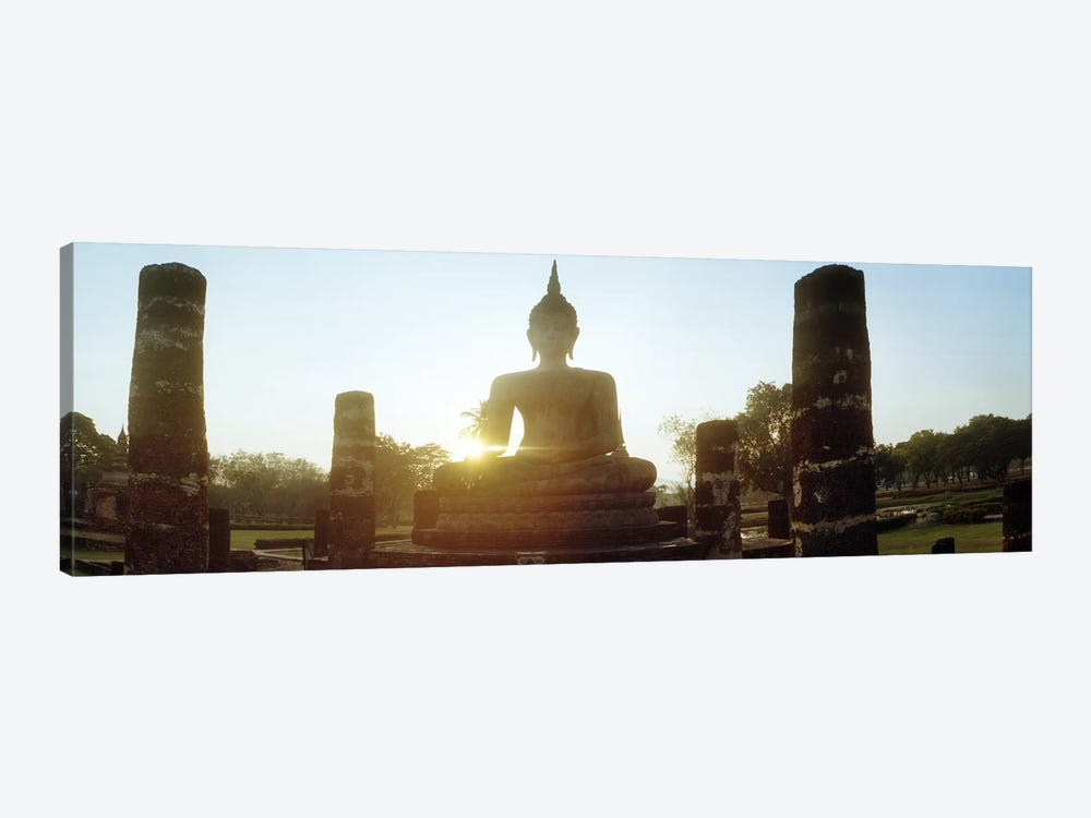Statue of Buddha at sunset, Sukhothai Historical Park, Sukhothai, Thailand by Panoramic Images 1-piece Canvas Artwork